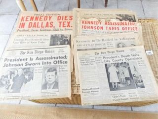1963  1964 Newspapers  Kennedy Theme  8
