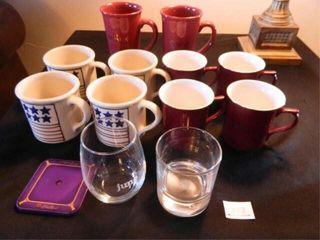 Mugs   10  Gevalia  2 Glasses