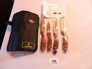 RMEF Browning Knife Set in Holder