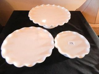 Stackable White Serving Dishes   3