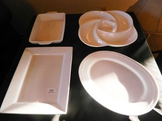 White Serving Platters  Assorted