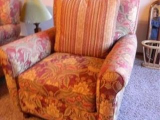 Upholstered Floral Chair