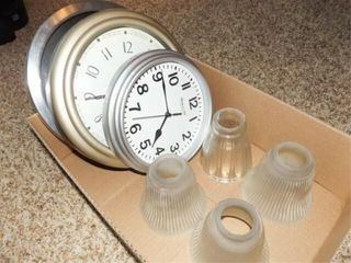lamp Glass Shades  Clocks   1 Box