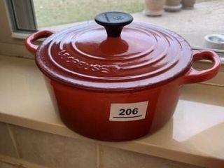 le Creuset Red Cast iron Pot enamel coat