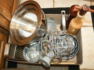 Metal Kitchenware  Sifters  set  3  BowlsIJ