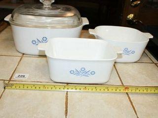 Blue Cornflower Casserole Dishes  3