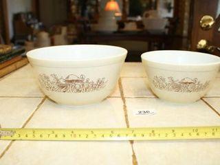 Pyrex  Forest Fancies  pattern mix bowls  2
