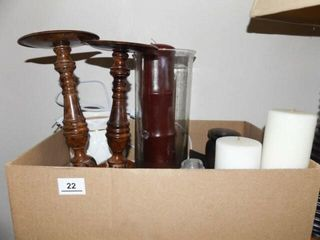 Candles  Candleholders   1 box