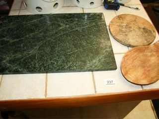 Stone Cutting Boards and Spoon Holder