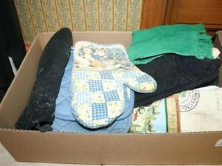 Oven mitts  gloves  Kitchen Rags  various items