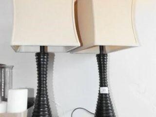 lamps   Black Base   matching pair