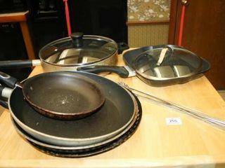 Skillets Cookware  Skewers  5 skillets