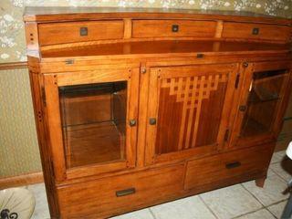 Buffet  Wood 2 Glass doors  fold out top