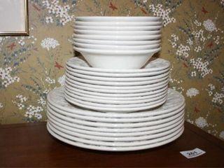 White Raised Fruit Pattern Dishes