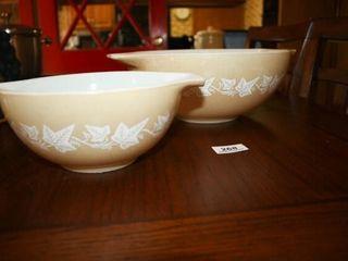 Pyrex Handled Bowls Golden leaves  2