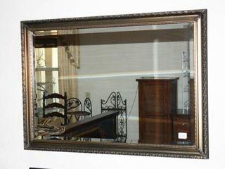 Framed Mirror  gold tones in molding