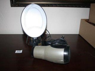 Sharper Image Bathroom Mirror  Blow Dryer