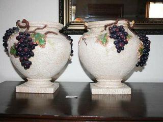 Decorative Grape Design vases n 2