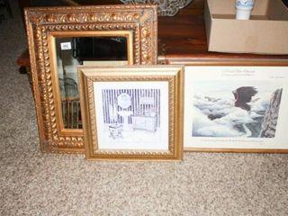 Mirror  artwork  Eagle lithograph