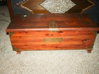 Cedar Chest with metal accents and handles