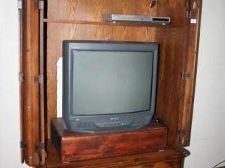 Sony Trinitron Box TV and Mitsubishi DVD