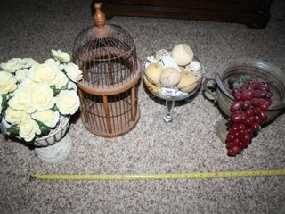 Decorative Urns with Flowers and Dried items