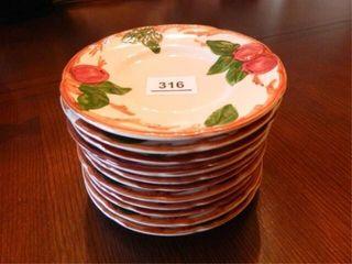 Franciscan Apple Plates   12