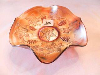 Carnival Glass Bowl w Grape Design
