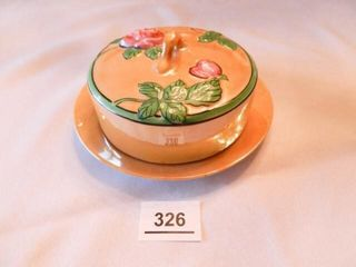 Hand painted Covered Dish