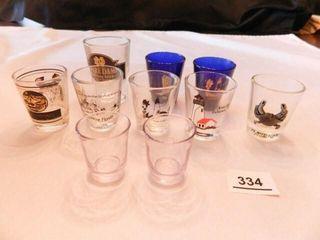 Shot Glasses 8  Small Glasses 2