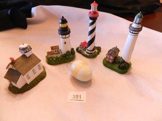 lighthouse Figurines  2 lefton