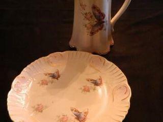 Semi Porcelain Pitcher   Plate