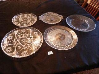 Glass Serving Trays  Round   5