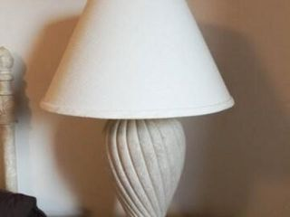 lamps   Stone look Base   matching pair