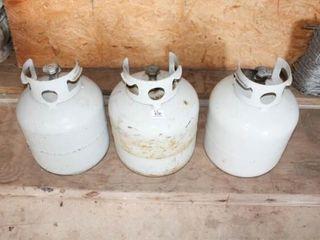 3 Propane Tanks