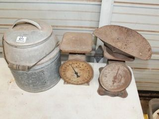 2 Set of Vintage Scales  Thermos