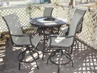 Outdoor Patio Set   4 Swivel  Rocking Chairs