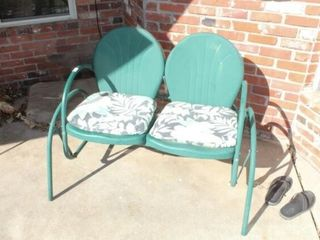 Green Outdoor Double Swinging Chair