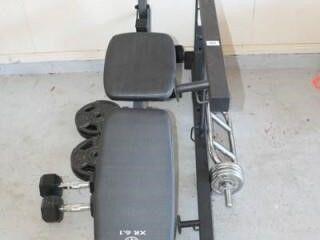Gold s Gym XR 6 1 Bench Weight Set