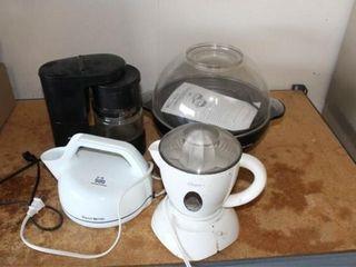Krups Coffee Maker  West Bend Popcorn Popper