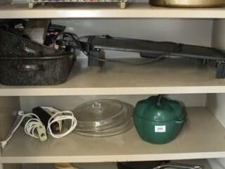 Remaining Items in Metal Cabinet   Griddle