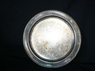 W M  Rogers Plated Round Serving Dish