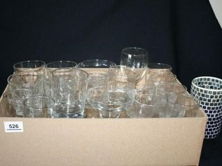 20 plus various glasses of differing sizes