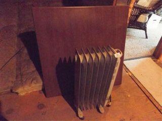 Card Table  Honeywell Heater