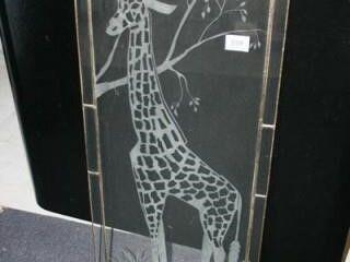 Glass with Giraffe