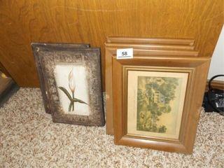 Currier   Ives Prints  4  Floral Pictures  2