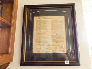 United States Constitution  Framed