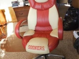 OU Sooners Monogrammed Office Chair