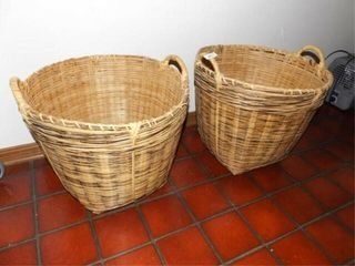 large laundry Baskets  2  16  tall x 18