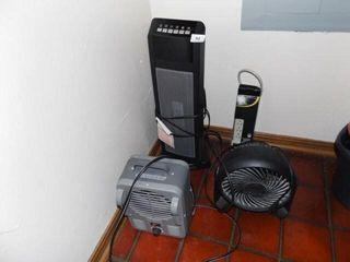 Electric Fans  2  Heater  Power Strip